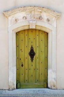 Chartreuse door