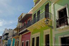 USA, Puerto Rico, San Juan. Balconies of Puerto Rico.