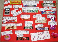a candy bar poster to express your love
