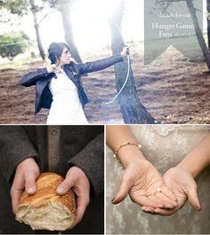 A Hunger Games wedding--cute party ideas.
