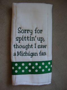 Should be orange and change Michigan to Florida or Bama.  :)