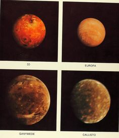From Voyager - Jupiter's four largest moons