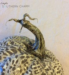 How to create a realistic pumpkin stem #modpodge #modpodgepumpkin #pumpkinstem | Simple Southern Charm