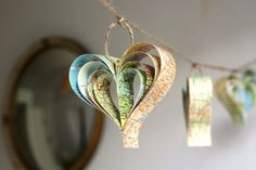 Hearts garland by Bookity
