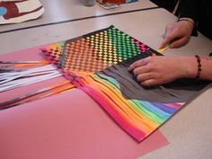Lots of great weaving ideas for different grade levels!