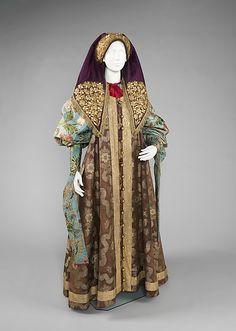 Русский женский наряд 18-го века.