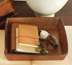 Saddle Leather Catch-All | Pottery Barn