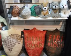 Game of Thrones plushies! I want Ghost! #GoT