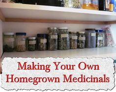 Making Your Own Homegrown Medicinals