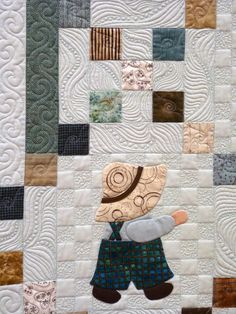 Irish Sam in the Fields by Daisy Boulter of Greeley, CO and quilted by Janel Borg.