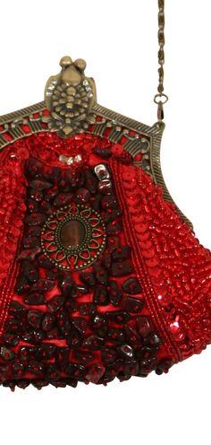 Red Medallion Purse