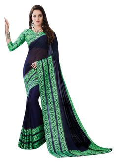 Dark blue georgette