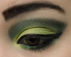 A bold green and yellow look by Bethany!   She used Button Up, Okul, Menace, Poison Ivy, and Very Vanilla