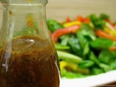 HomeMade Balsamic Vinaigrette Salad Dressing - Why buy pre-packaged salad dressings? This basic home made balsamic salad dressing is quick, easy, healthy and delicious!