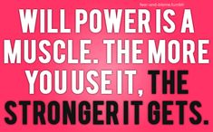 develop your willpower