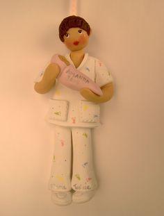 Neonatal nurse clay ornament