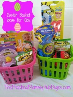 Easter Basket Ideas for Toddlers and Babies: Goodies to Put in Their Baskets That are Sugarless and Fun!