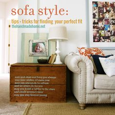 sofa style | the handmade home
