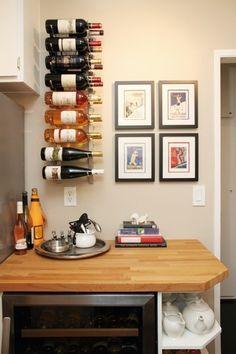 Bonito suporte para garrafas de vinho!