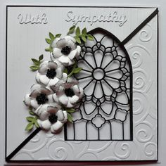Baukje's Cards and Crafts: Sympathy Cards Perfect for sympathy card nice and simple but very eyecatching
