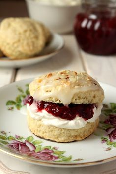 Scone with homemade jam