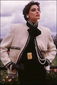 Inès de la Fressange: Chanel Ad 1980s