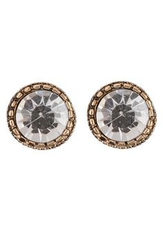 Rhinestone Button Earrings (original price, $8) available at #Maurices Krista