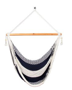 Dark Blue & White Hammock Chair. $47.00, via Etsy.