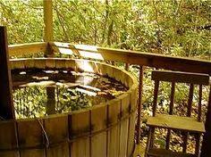 Outdoor Japanese Hinoki Wood Soaking Tub House Stuff Pinterest
