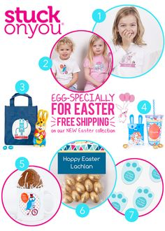 Stuck On You Easter 2014 Gifts Range : Free Postage On Personalised Easter Hunt Bags, Easter In A Cup, Easter Trail Labels and Easter Mugs