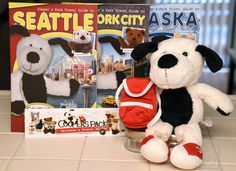 Cooper's Pack Travel Guides (Seattle, New York City, & Alaska so far) for Families, with Plush Dog and Backpack