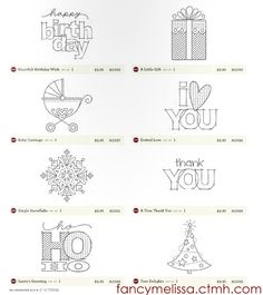 New Mini Stamps from Close to My Heart only $2.95 each. Order them today at fancymelissa.ctmh.com #cards #craft #diy #christmas #baby christma card, stamp sets, heart stamp, mini stamp, christmas baby, card crafts, card corner, diy christmas
