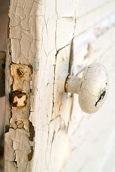 worn door and knob