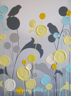 wall art, acrylic paintings, acrylics, grey, yellow