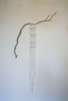 wall art, wall decor, macrame, macramé, display art, branch, salli england, textil, quilted wall hangings