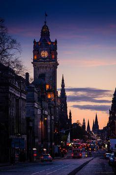 the Balmoral from Princes street, Edinburgh