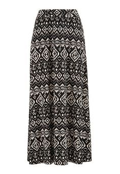 Ethnic Print Maxi skirt with slits (original price, $34) available at #Maurices