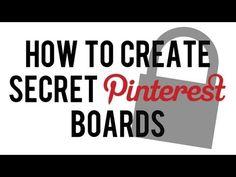 VIDEO: How to Make Secret Board on Pinterest | Create Private Hidden Pinterest Board #socialmedia #pinterest