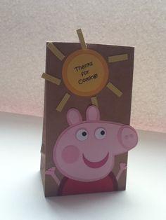Peppa Pig inspired treat bags via Etsy