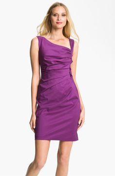 Suzi Chin for Maggy Boutique Ruched Asymmetrical Neck Sheath Dress available at #Nordstrom