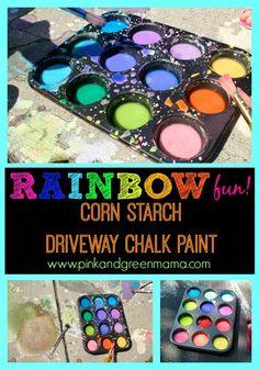* Color My Driveway: DIY Cornstarch Sidewalk Paint