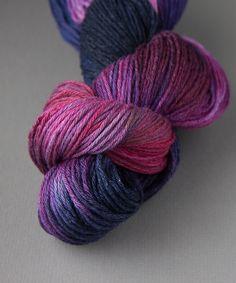 Tricksy Knitter - Superwash & Silk Kit - Pansies Intensified