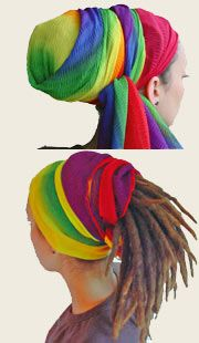 Dread wrap tutorial..I don't have dreads but I still want to attempt to wrap my hair like this. lol