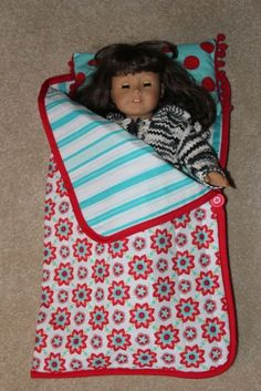 how to make a doll sleeping bag