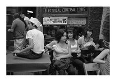 Dave Jordano Photography - A Group at a Greek Festival, Greektown, Detroit 1972
