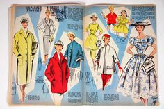 "Holiday article from vintage 1950s French ""L'Echo de la Mode"" magazine"