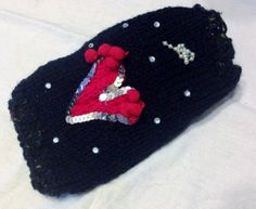 XXS Valentines Day Chihuahua Heart Sweater Tiny Dog by RocknHotdog, $16.00