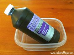 DIY Stain Remover for Plastic Storage Containers
