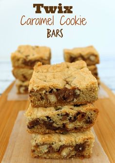 Twix Caramel & Chocolate Cookie Bars Recipe | Sassy Girlz Blog Oey, Gooey, chocolate-y yum! Do you say Cookie Bar or Blondies?