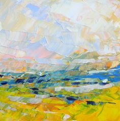 Abstract Landscape  acrylic painting on canvas  size by SallyKelly, $38.00